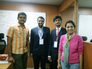 FC201x Student with IIMBx MOOC Team Members